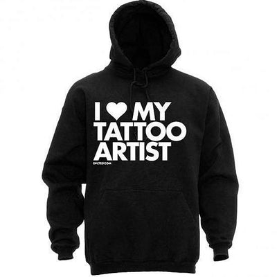 "Unisex ""I Love My Tattoo Artist"" Hoodie by Dpcted Apparel (Black) - www.inkedshop.com"