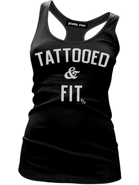 "Women's ""Tattooed & Fit"" Tank by Pinky Star (Multiple Options) - www.inkedshop.com"