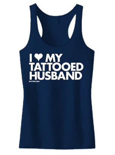 "Women's ""I Heart My Tattooed Husband"" Tank by Dpcted Apparel (More Options) - www.inkedshop.com"