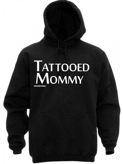 "Unisex ""Tattooed Mommy"" Hoodie by Dpcted Apparel (Black) - www.inkedshop.com"