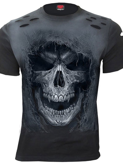 Men's Tattered Skull Distressed Tee by Spiral USA