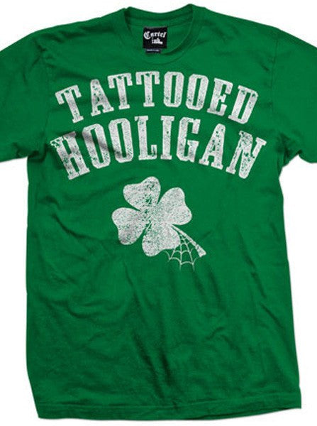 "Men's ""Tattooed Hooligan"" Tee by Cartel Ink (Green) - www.inkedshop.com"