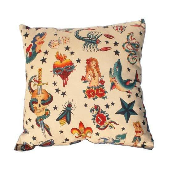 Tattoo Art Throw Pillow by Hemet - InkedShop - 1