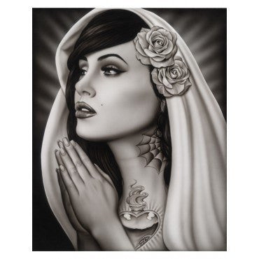 """Tattooed Mary"" Print by Spider - InkedShop - 1"