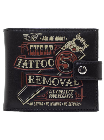 """Tattoo Removal"" Wallet by Kustom Kreeps (Black)"