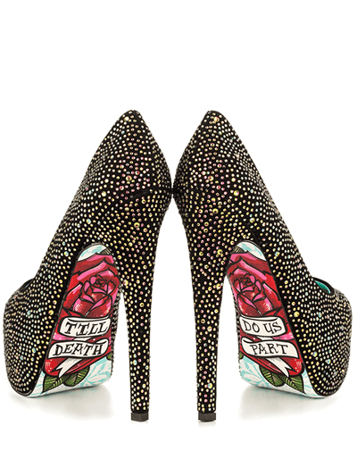"""Till Death"" Heels by Taylorsays (Black) - www.inkedshop.com"