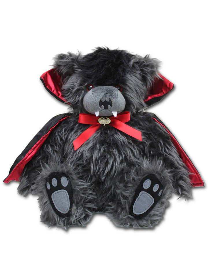 """Ted The Impaler"" Teddy Bear by Spiral USA (Black) - www.inkedshop.com"