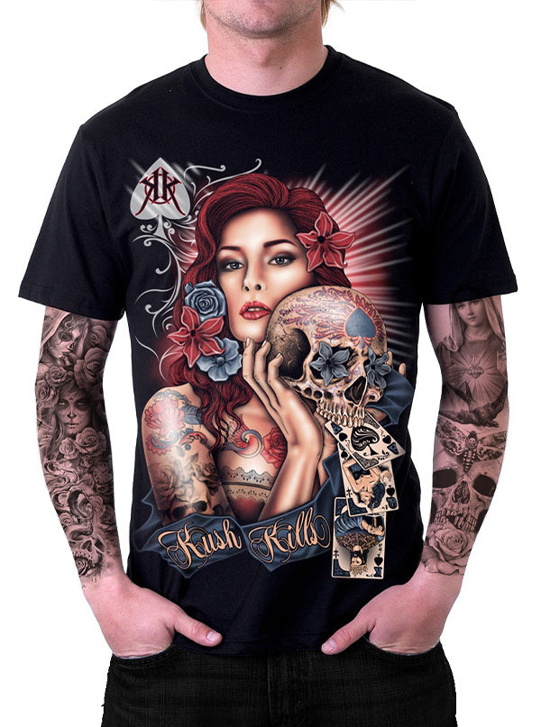 Men's Red Temptress Tee by Kush Kills Clothing