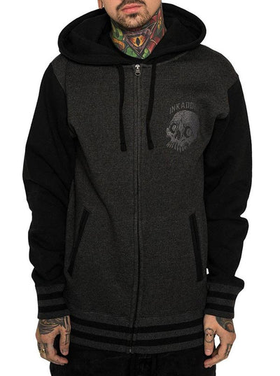 "Unisex ""Tevenal II"" Varsity Hoodie by InkAddict (Black Collection)"