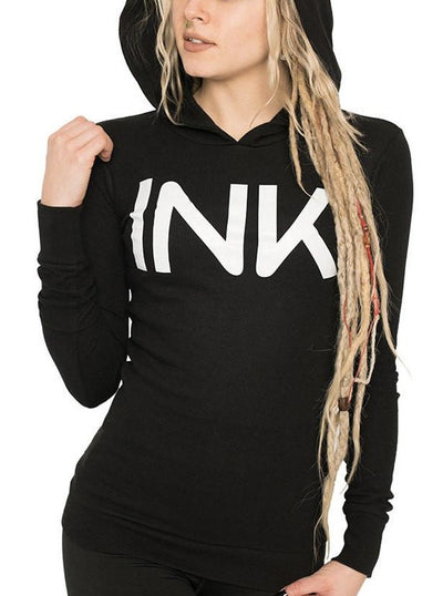 Women's Ink Thermal Hoodie by InkAddict