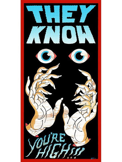 """They Know"" Print by Mike Barker for Mindzai Creative - www.inkedshop.com"