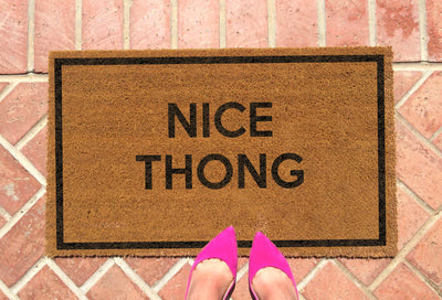 Nice Thong Doormat by Funny Welcome