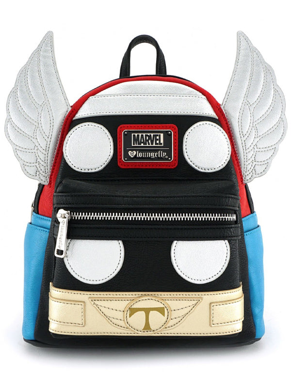 """Marvel: Thor"" Cosplay Mini Backpack by Loungefly (Black/Red)"