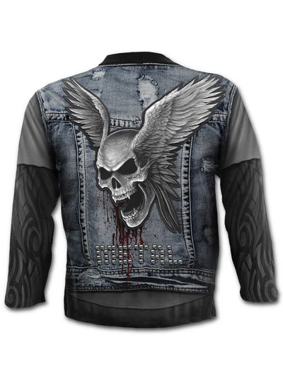 "Men's ""Thrash Metal"" Long Sleeve Tee by Spiral USA (Black) - www.inkedshop.com"