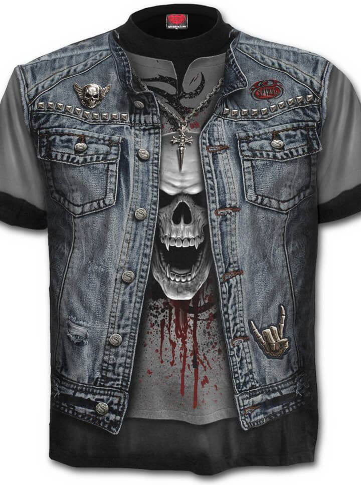 "Men's ""Thrash Metal"" Tee by Spiral USA (Black) - www.inkedshop.com"
