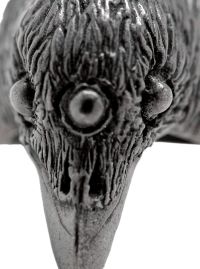 """Three Eyed Raven"" Ring by Blue Bayer Design (Sterling Silver) - www.inkedshop.com"