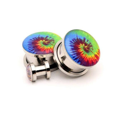 Tie Dye Picture plugs by Mystic Metals - InkedShop - 1