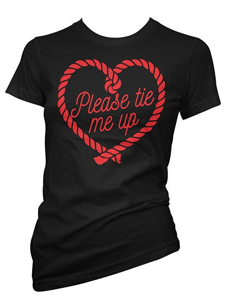 Women's Tie Me Up Tee by Pinky Star