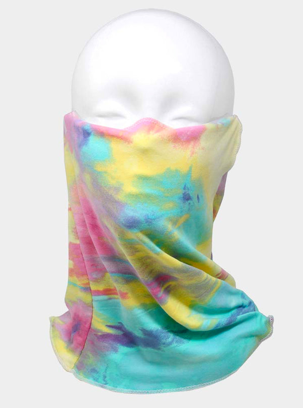 Tie Dye Print Seamless Face Tube Mask