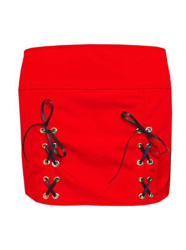 Women's Tie Me Up Corset Mini Skirt by Bomb Girl