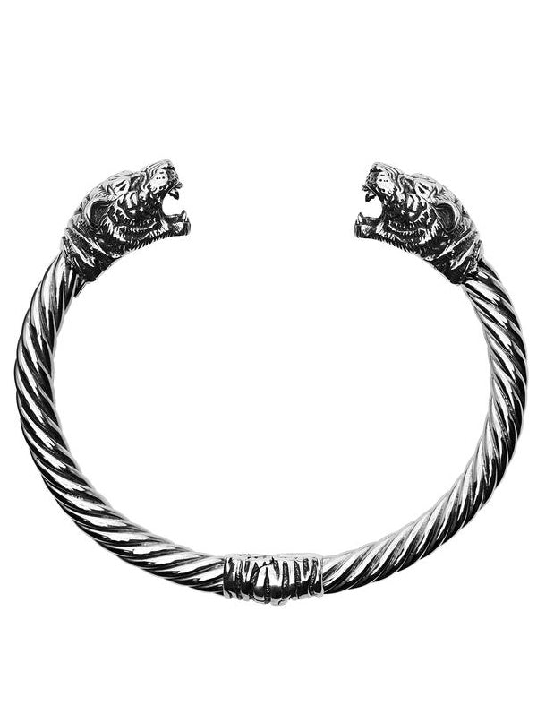 """Tiger"" Bangle Bracelet by Silver Phantom Jewelry"