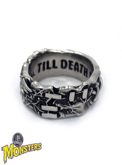 """Till Death Do Us Part"" Ring by Han Cholo (Steel) - www.inkedshop.com"