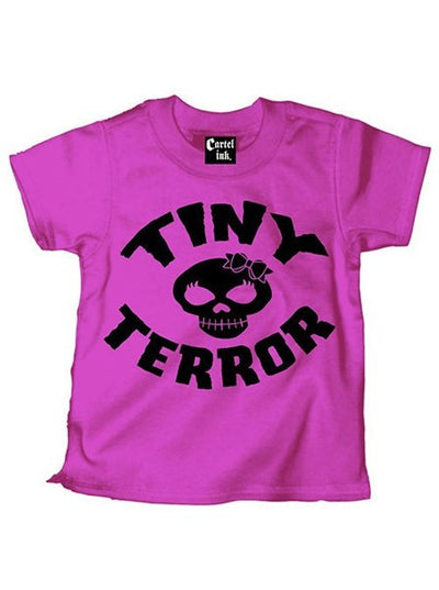 "Kid's ""Tiny Terror"" Tee by Cartel Ink - www.inkedshop.com"