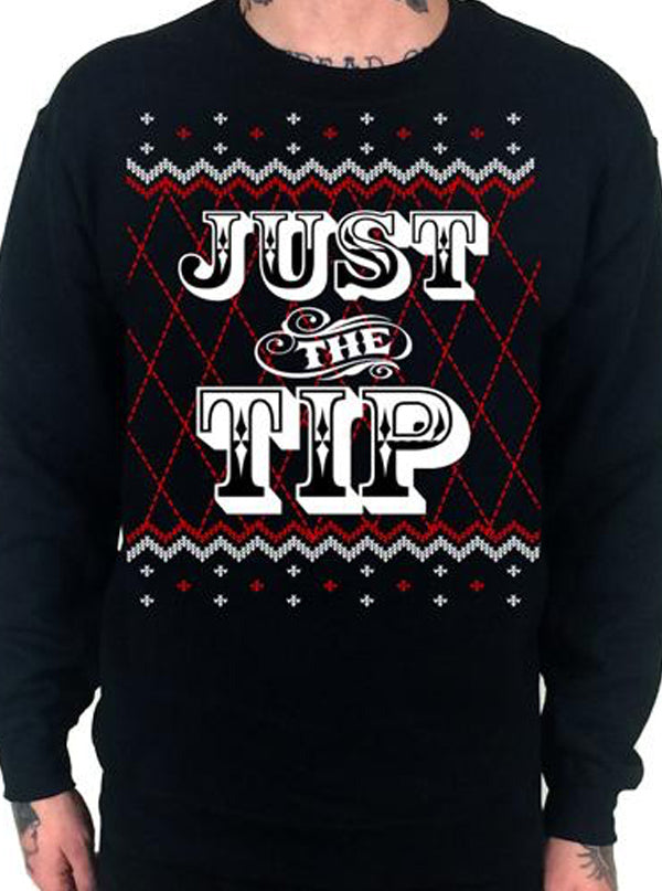 Men's Just The Tip Ugly Christmas Sweatshirt by Cartel Ink