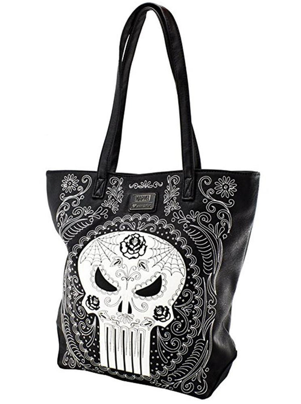 Women S Quot Marvel Punisher Sugar Skull Quot Tote Bag By