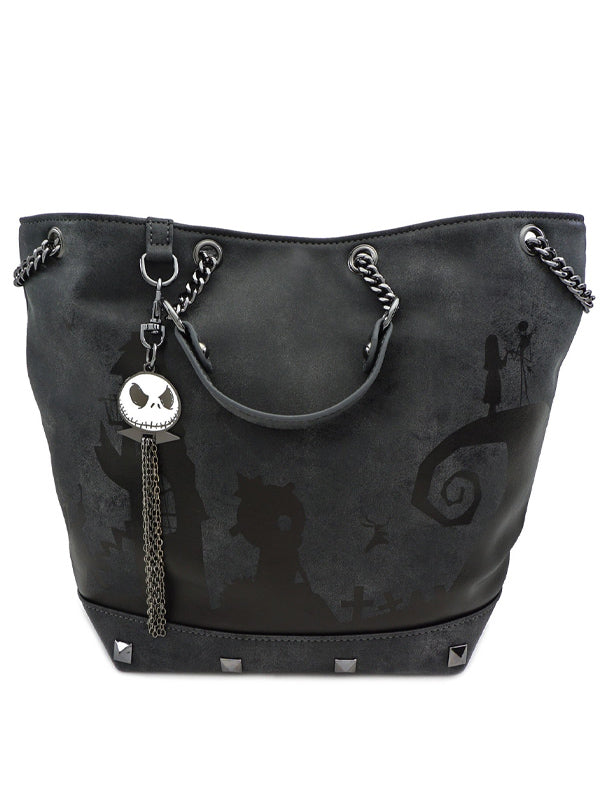 Nightmare Before Christmas: Tonal Bucket Charm Bag by Loungefly