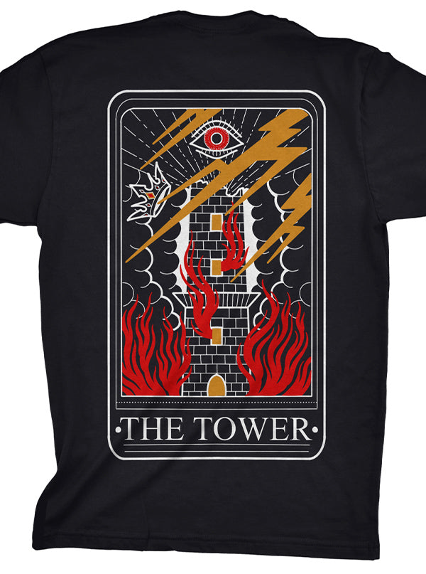 Men's The Tower Card Tee by Ghost and Darkness