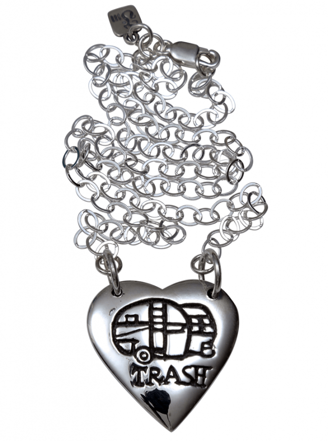"""Trailer Trash"" Necklace by Femme Metale - www.inkedshop.com"