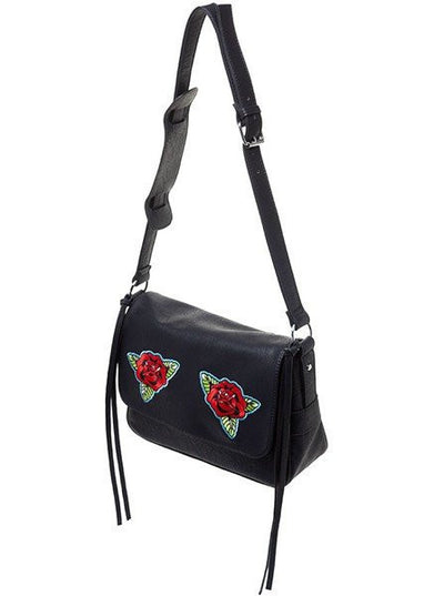 """Traditional Roses"" Cheap Thrills Purse by Sourpuss (Black) - www.inkedshop.com"