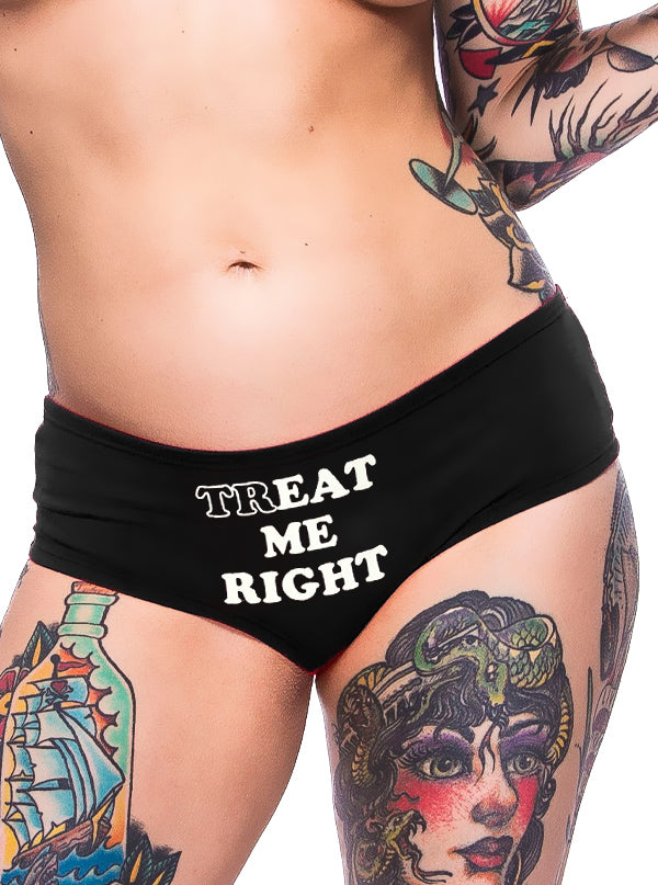Women's Treat Me Right Booty Shorts by Cartel Ink
