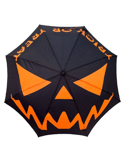 Skull Handle Trick or Treat Umbrella by Kreepsville 666