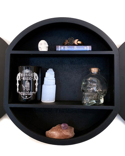 Triple Moon Shelving Display