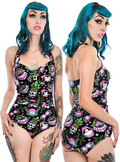 Women's Tropical Dreams One Piece Swimsuit by Too Fast