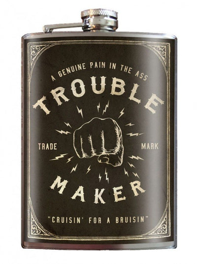 """Trouble Maker"" Flask by Trixie & Milo - InkedShop - 1"