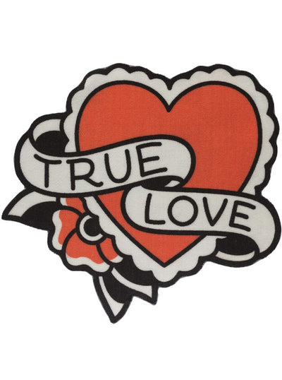 """True Love"" Rug by Sourpuss (Black)"