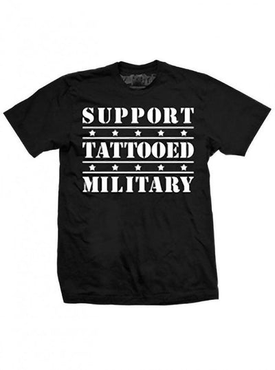 "Men's ""Tattooed Military"" Tee by Steadfast Brand (Black) - InkedShop - 1"