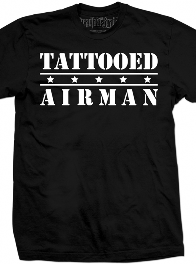 "Men's ""Tattooed Airman"" Tee by Steadfast Brand (Black) - www.inkedshop.com"