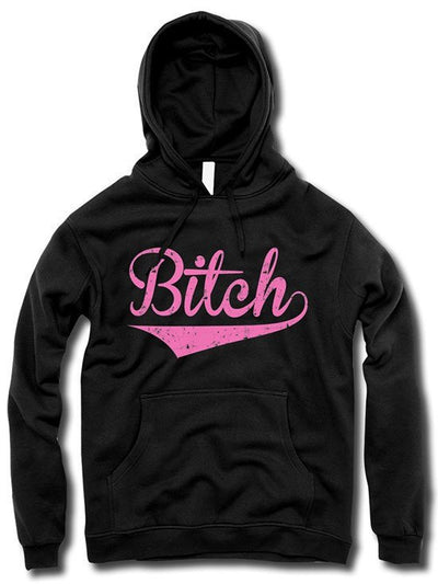 "Women's ""The Bitch"" Hoodie by The T-Shirt Whore (Black) - www.inkedshop.com"