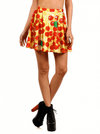 "Women's ""Turtle Pizza"" Skater Skirt by Poprageous (Yellow) - www.inkedshop.com"