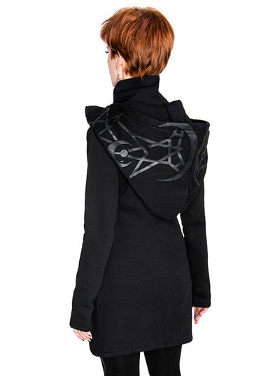 Women's Twin Moon Hoodie Jacket by Restyle