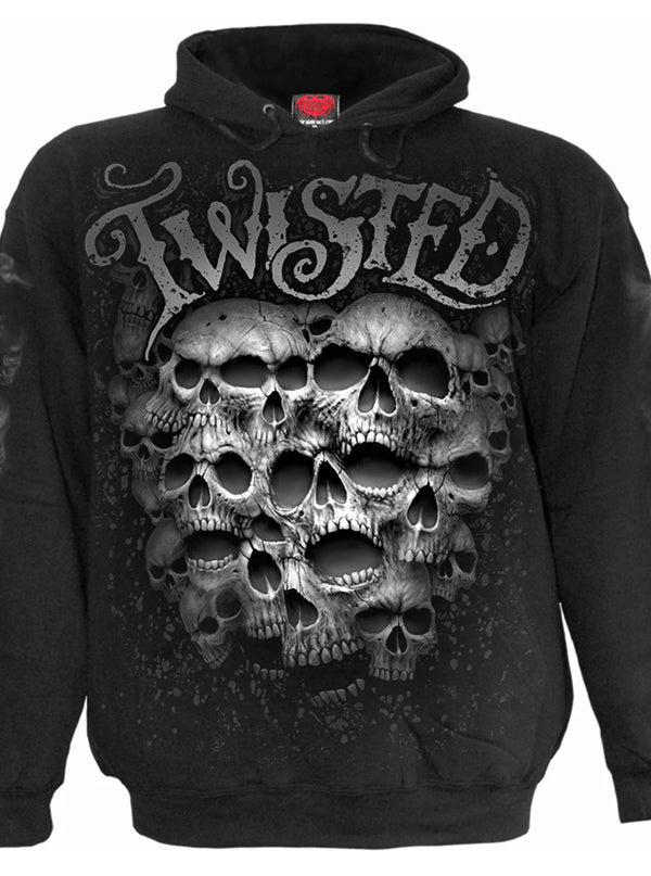 Men's Twisted Skull Hoodie by Spiral USA