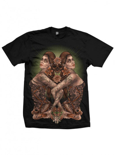"Men's ""Two Is Better"" Tee by Kush Kills Clothing (Black) - www.inkedshop.com"