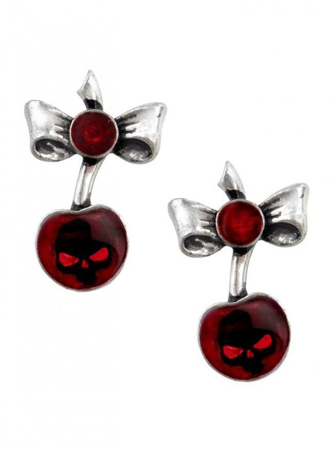 """Black Cherry"" Earrings by Alchemy of England - www.inkedshop.com"