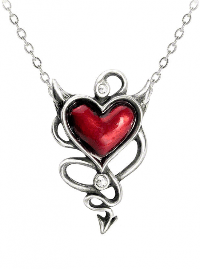 """Devil Heart"" Pendant by Alchemy of England - www.inkedshop.com"