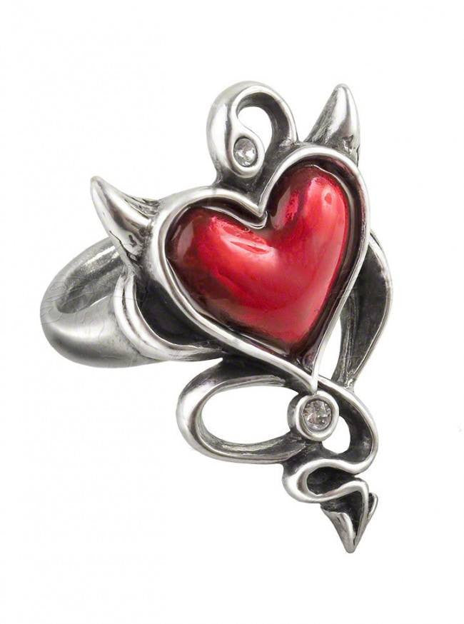 """Devil Heart"" Ring by Alchemy of England - www.inkedshop.com"