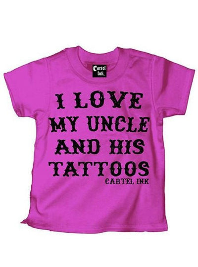 "Kid's ""I Love My Uncle and His Tattoos"" Tee by Cartel Ink - www.inkedshop.com"